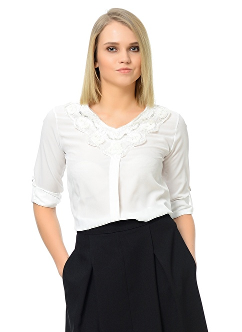 Dewberry Bluz Beyaz